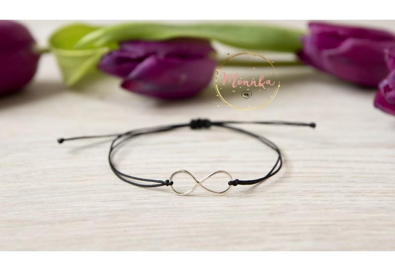 Infinity Bracelet. Black String Bracelet. Kabbalah Black String