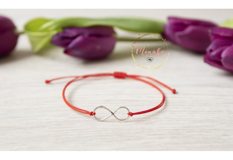 Infinity Bracelet. Red String Bracelet. Kabbalah Red String