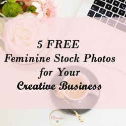 5 FREE Feminine Stock Photos for YOUR Creative Business