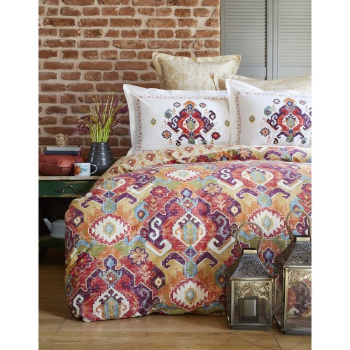 100 % Cotton Ethnic Design Full Double 4 Pieces Bedding Duvet Cover Luxury Set