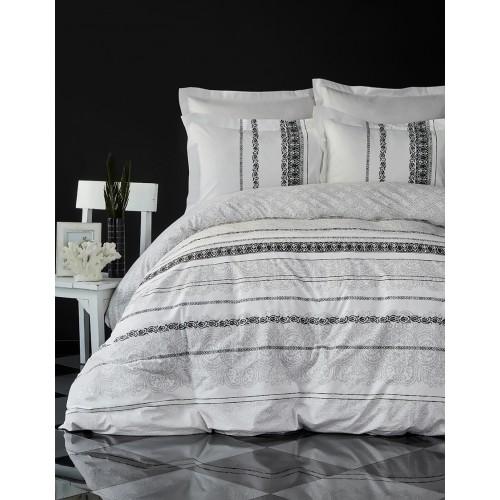 100 % Cotton White Black Design Full Double 4 Pieces Bedding Duvet Cover Luxury Set