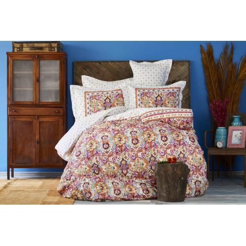 100 % Cotton Ethnic Design Full Double 4 Pieces Bedding Duvet Cover Luxury Set