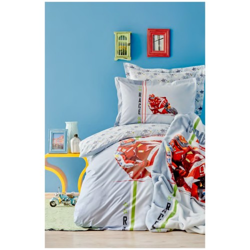 100% Cotton Single Duvet Cover Boys Set
