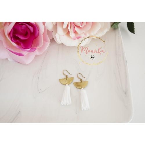 Tassel Earrings. Brass Chandelier Earrings. Statement Earrings