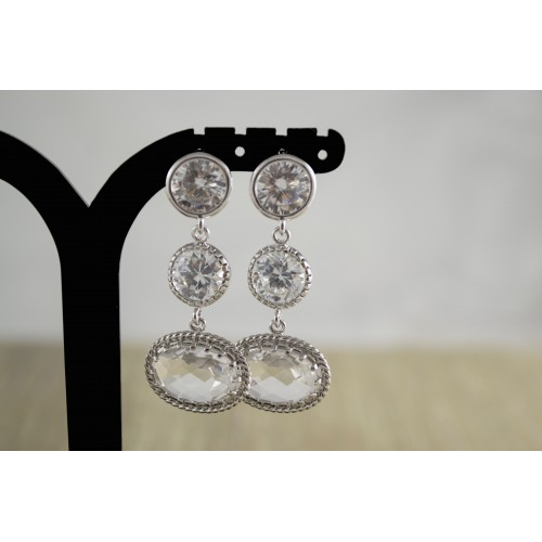 Clear Crystal Earrings