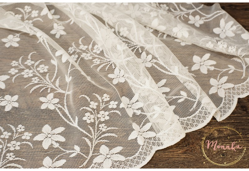 Lace Curtain Panel. Custom Curtains: Hand Stitched Window Curtains, Window Panels