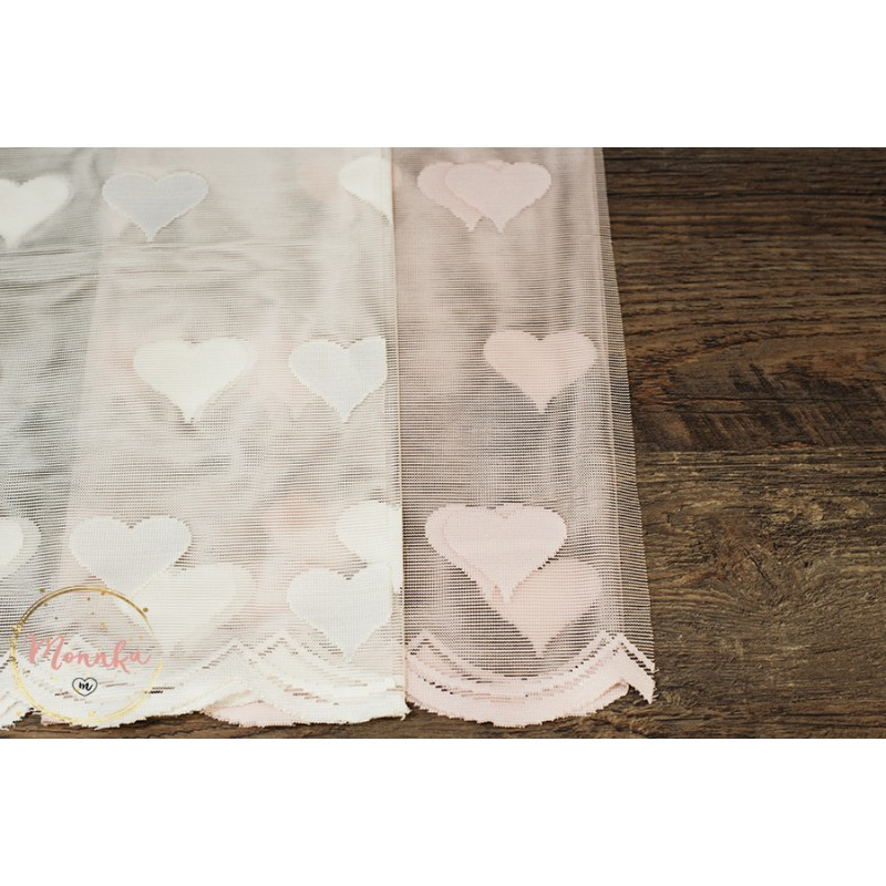 Pink Or White Heart Lace Curtain Panel For A Baby Girl Nursery Room Custom