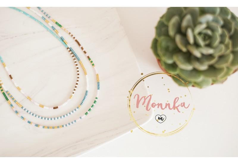 SET OF 3 Miyuki Chokers. Handmade Layering Necklaces. Boho, Tribal, Gypsy Jewelry