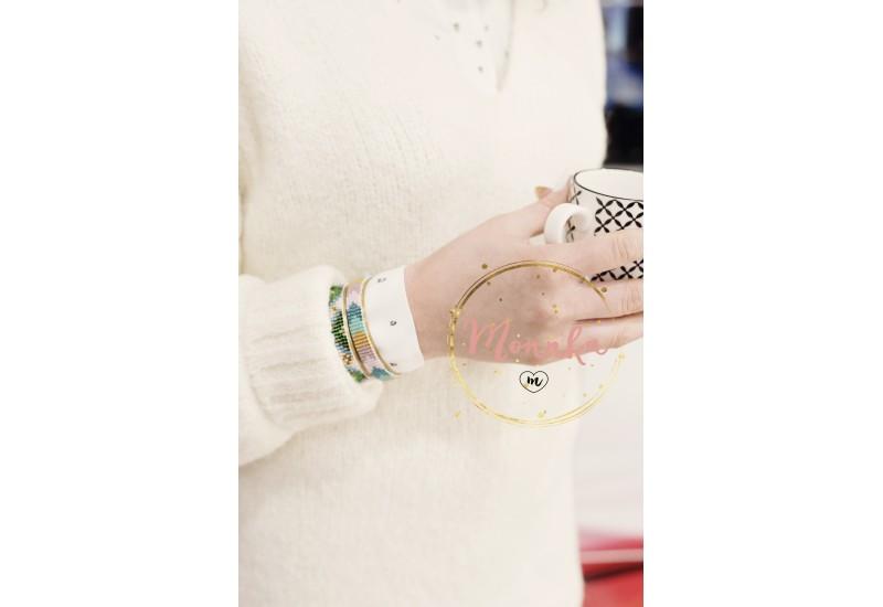 Loom Bracelet. Miyuki Beaded Cuff