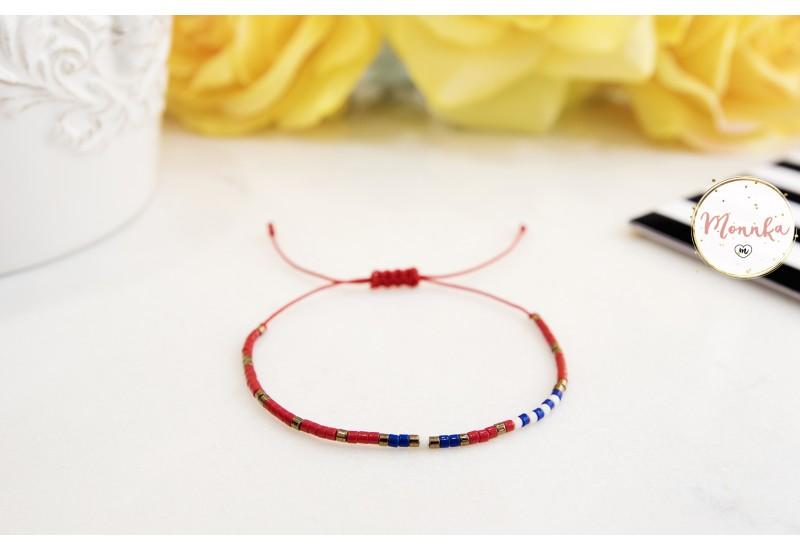 Miyuki Bracelet. Delicate Beaded Bracelet. Colorful Dainty Friendship Bracelet. Red String Kabbalah Bracelet. Beach String Bracelet. Layering bracelet.