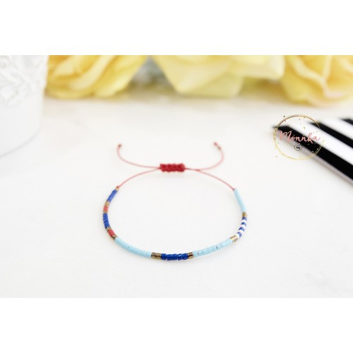 Miyuki Bracelet. Delicate Beaded Bracelet. Colorful Dainty Friendship Bracelet