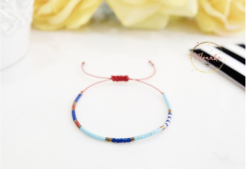 Miyuki Bracelet. Delicate Beaded Bracelet. Colorful Dainty Friendship Bracelet