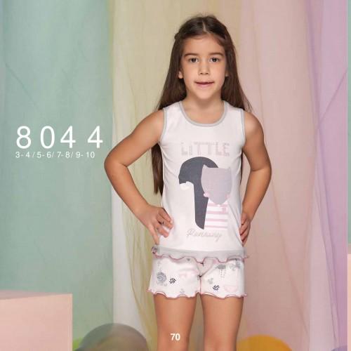 Summer two-piece kids pajamas set for girls - little runaway