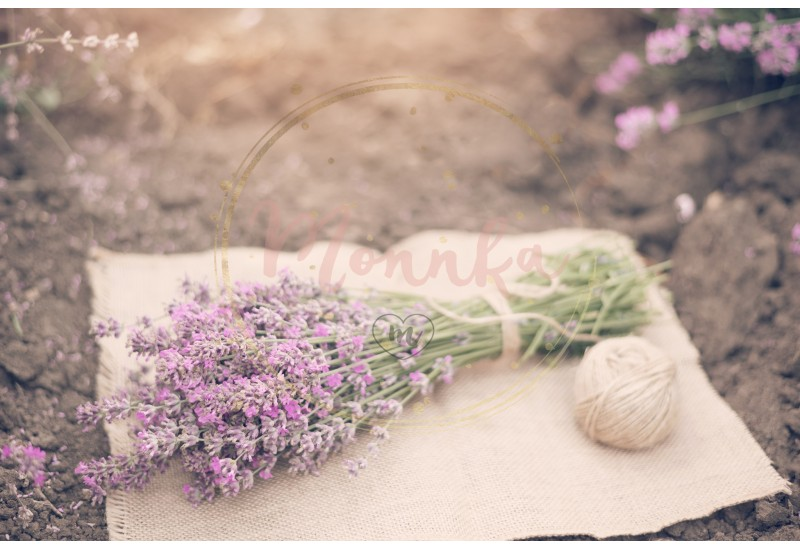 A bouquet of lavender and a ball of twine. Tinted, sunny hazy, haze - DIGITAL DOWNLOAD PHOTOGRAPHY