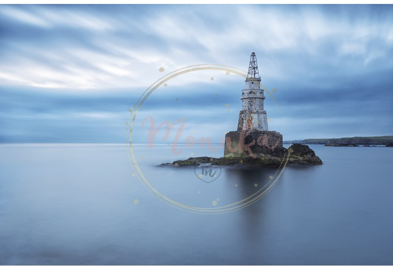 Misty sunrise of the lighthouse in Ahtopol, Bulgaria. Blue hour seascape. Long exposure - DIGITAL DOWNLOAD PHOTOGRAPHY