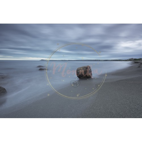 Seascape before sunrise in cloudy morning. Beautiful natural seascape, blue hour. Rocky sunrise. Sea sunrise at the Black Sea coast near Atia, Chernomoretz - DIGITAL DOWNLOAD PHOTOGRAPHY