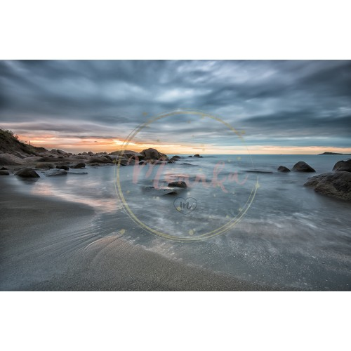 Sea sunrise. Seascape before sunrise in cloudy morning. Beautiful natural seascape, blue hour. Rocky sunrise. Sea sunrise at the Black Sea coast near Atia, Chernomoretz - DIGITAL DOWNLOAD PHOTOGRAPHY