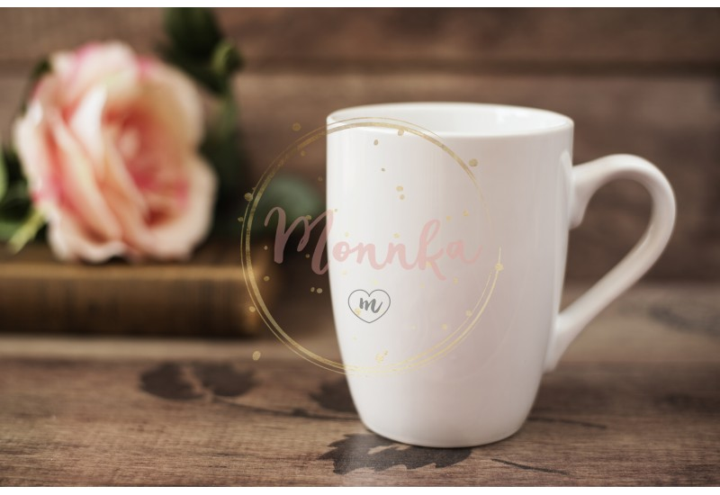 Mug Mockup. Coffee Cup Template. Coffee Mug Printing Design Template. White Mug Mockup, Old Book and Flower, Wooden Background. Blank Mug. Mockup Styled Stock Product Image - DIGITAL DOWNLOAD PHOTOGRAPHY