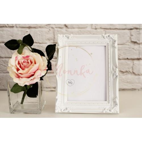 Frame Mockup. White Frame Mock Up, Digital MockUp, Display Mockup, Styled Stock Photography Mockup, Colorful Desktop Mock Up. Floral, vase, flower rose - DIGITAL DOWNLOAD PHOTOGRAPHY