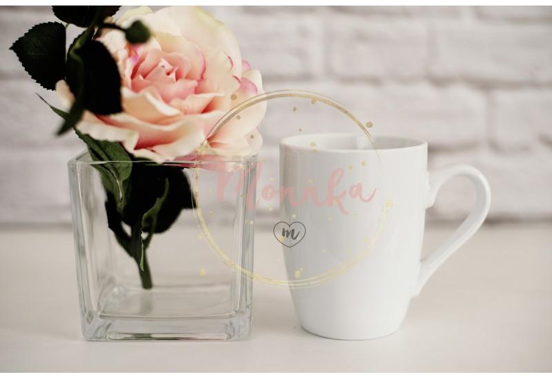 Mug Mockup. Coffee Cup Template. Coffee Mug Printing Design Template. White Mug Mockup. Blank Mug. Mockup Styled Stock Product Image. Styled Stock Photography White Coffee Cup and Rose Flower - DIGITAL DOWNLOAD PHOTOGRAPHY