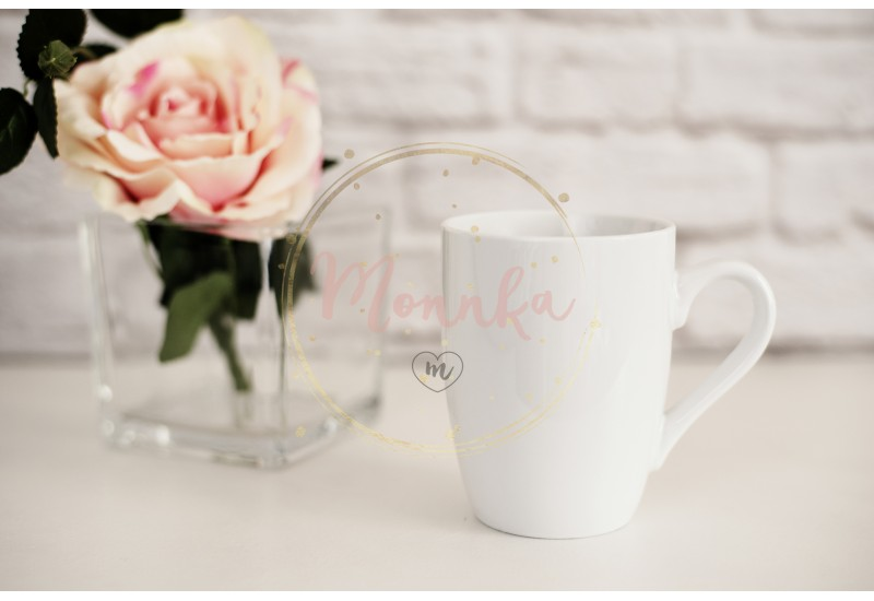 Mug Mockup. Coffee Cup Template. Coffee Mug Printing Design Template. White Mug Mockup. Blank Mug. Mockup Styled Stock Product Image. Styled Stock Photography White Coffee Cup and Rose Flower - DIGITAL DOWNLOAD PHOTOGRAPHY