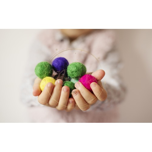 Close up of children hands holding colorful felt balls. Child, kid palms. A little girl keep in handfuls of colored wool balls. Lifestyle concept. Selective focus - DIGITAL DOWNLOAD PHOTOGRAPHY