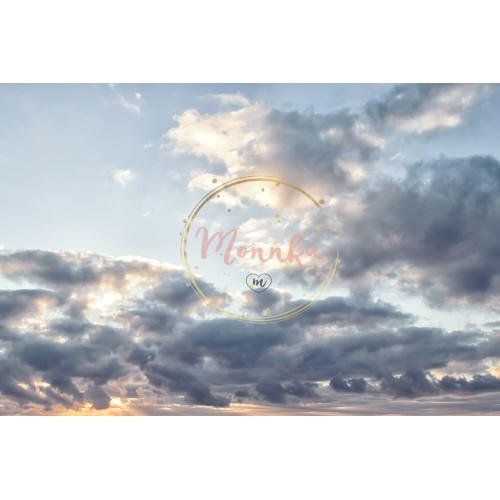 Beautiful cloudy sky. Colorful sky in sunrise time - DIGITAL DOWNLOAD PHOTOGRAPHY
