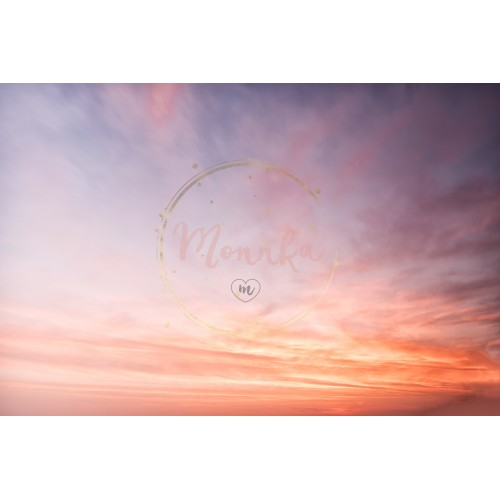 Beautiful cloudy sky. Colorful sky in sunrise time. Fire in the sky - DIGITAL DOWNLOAD PHOTOGRAPHY