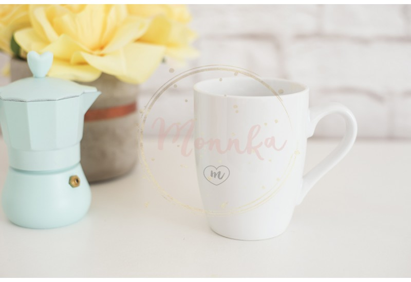 Mug Mockup. Coffee Cup Template. Coffee Mug Printing Design Template. White Mug Mockup. Blank Mug. Styled Stock Product Image. Styled Stock Photography White Coffee Cup and Rose Flower - DIGITAL DOWNLOAD PHOTOGRAPHY