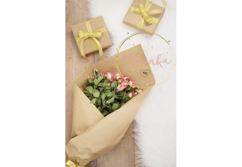 Large luxury bouquet of roses and gifts on a fur carpet - DIGITAL DOWNLOAD PHOTOGRAPHY