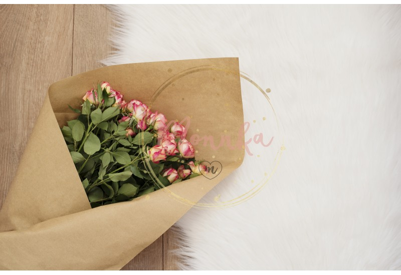 Large luxury bouquet of roses on a fur carpet - DIGITAL DOWNLOAD PHOTOGRAPHY