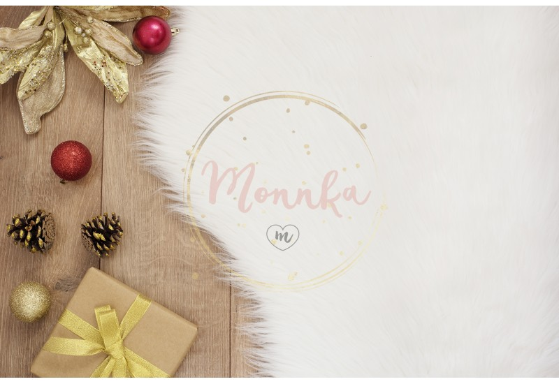 Merry Christmas. Winter Holidays Concept - cozy home, balls, gift, cones. Golden theme - DIGITAL DOWNLOAD PHOTOGRAPHY