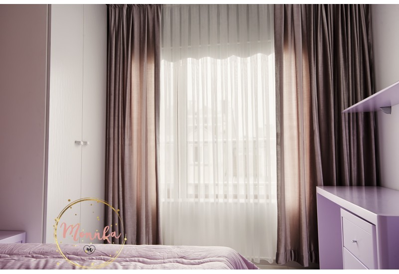 1 Piece Luxury High Quality Window Curtain Panel. Purple Velvet Custom Curtains: Hand Stitched Window Curtains, Window Panels