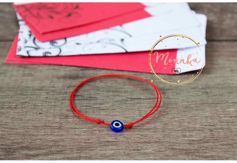 Evil Eye Bracelet. Red String Bracelet. Kabbalah Karma Chakra Bracelets