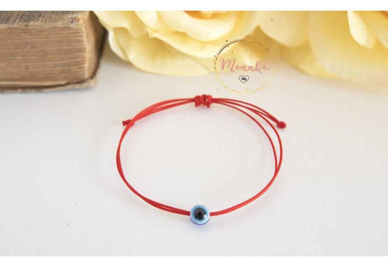 Evil Eye Red String Bracelet. Blue Evil Eye Kabbalah Chakra Bracelet