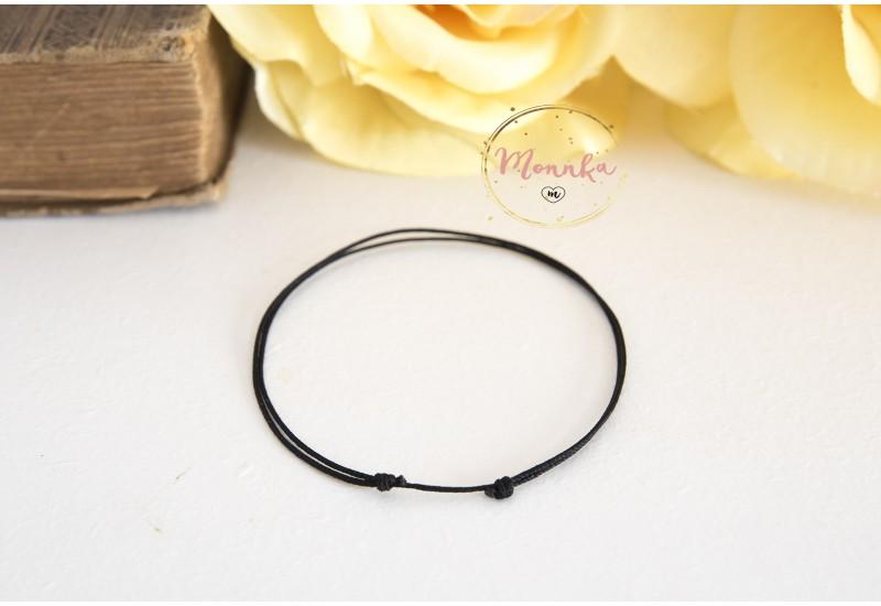 Black String Bracelet. Black String Kabbalah Bracelet. Good Luck Amulet