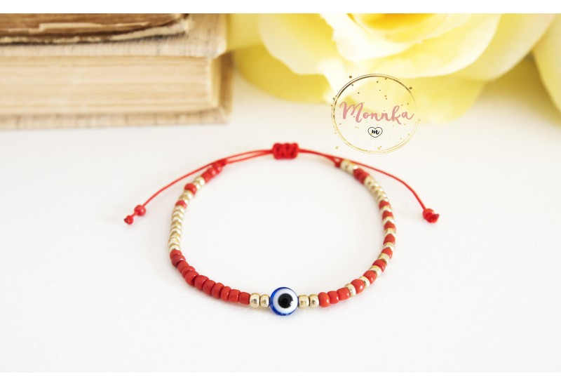Evil Eye Bracelet. Red String Kabbalah Bracelet
