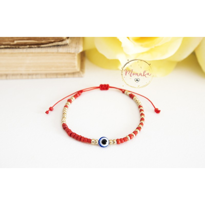 red products hand beads string com protective four necklace chain bracelet ahuva charm