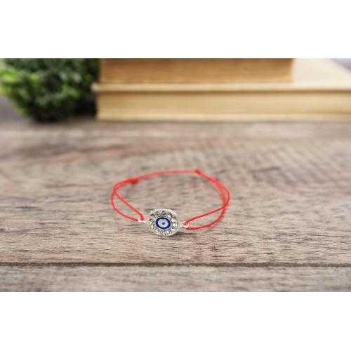 Evil Eye Red String Bracelet. Blue Evil Eye Rhinestone Kabbalah Chakra Bracelet