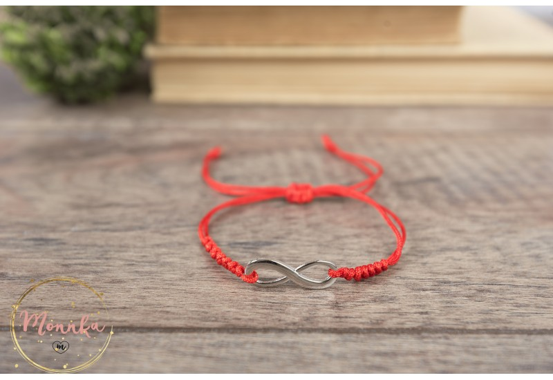 Infinity Bracelet. Red String Bracelet. Kabbalah Red String