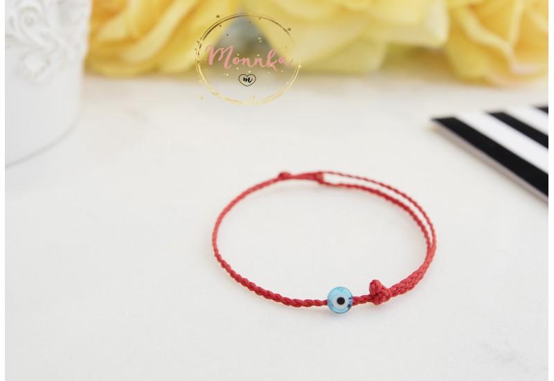 Red String Bracelet, Braided Evil Eye Bracelet. Friendship Gift. Familiy Protection