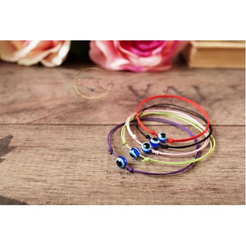 Evil Eye Bracelet. Black String Kabbalah Bracelet