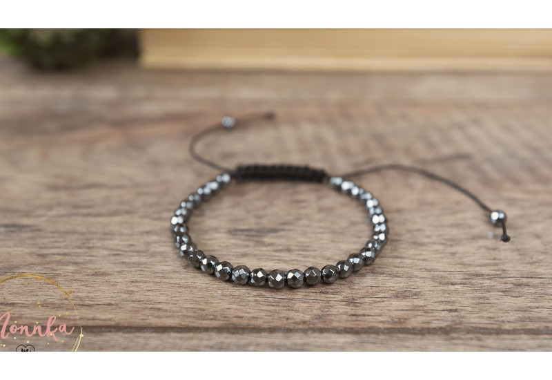 Natural Stone Hematite Bracelet
