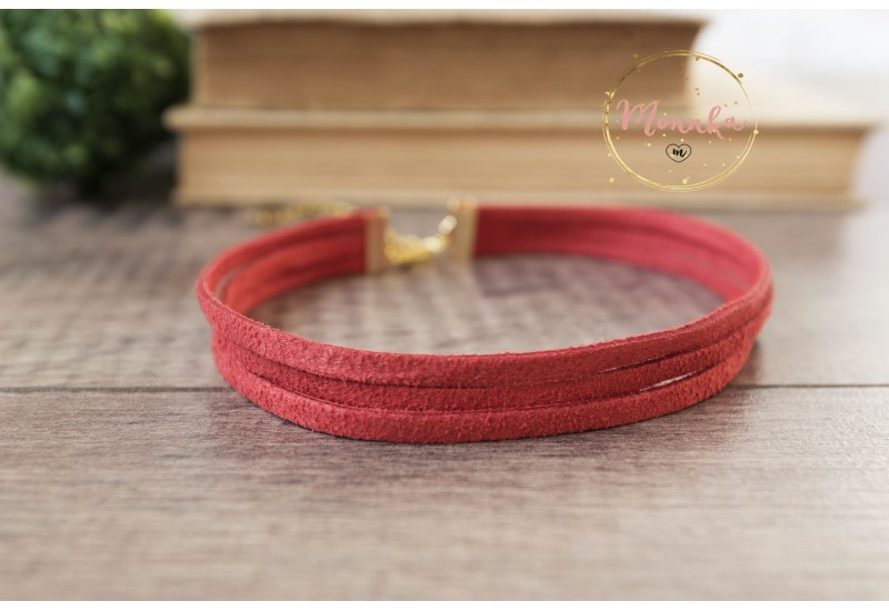 3 Three Strand Suede Leather Bracelet