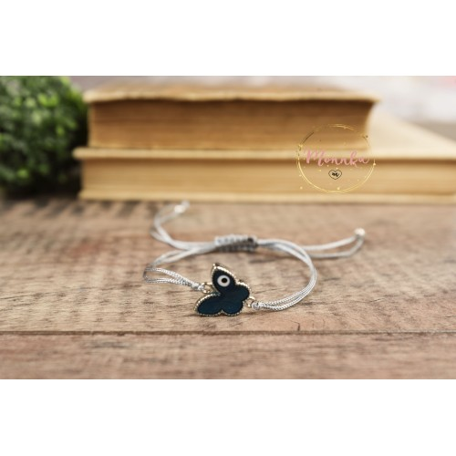 Evil Eye Bracelet. Blue Butterfly Evil Eye