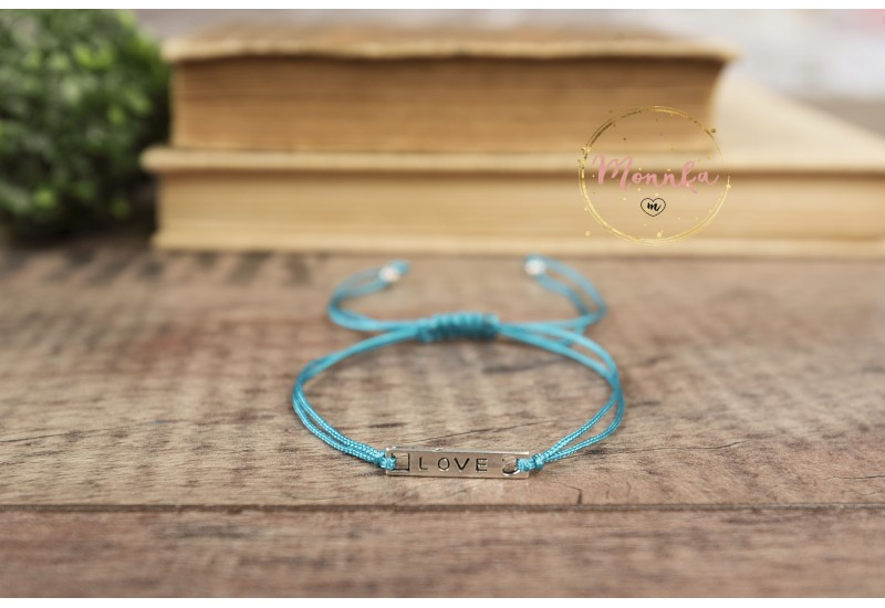 Love Bracelet. Blue String Bracelet